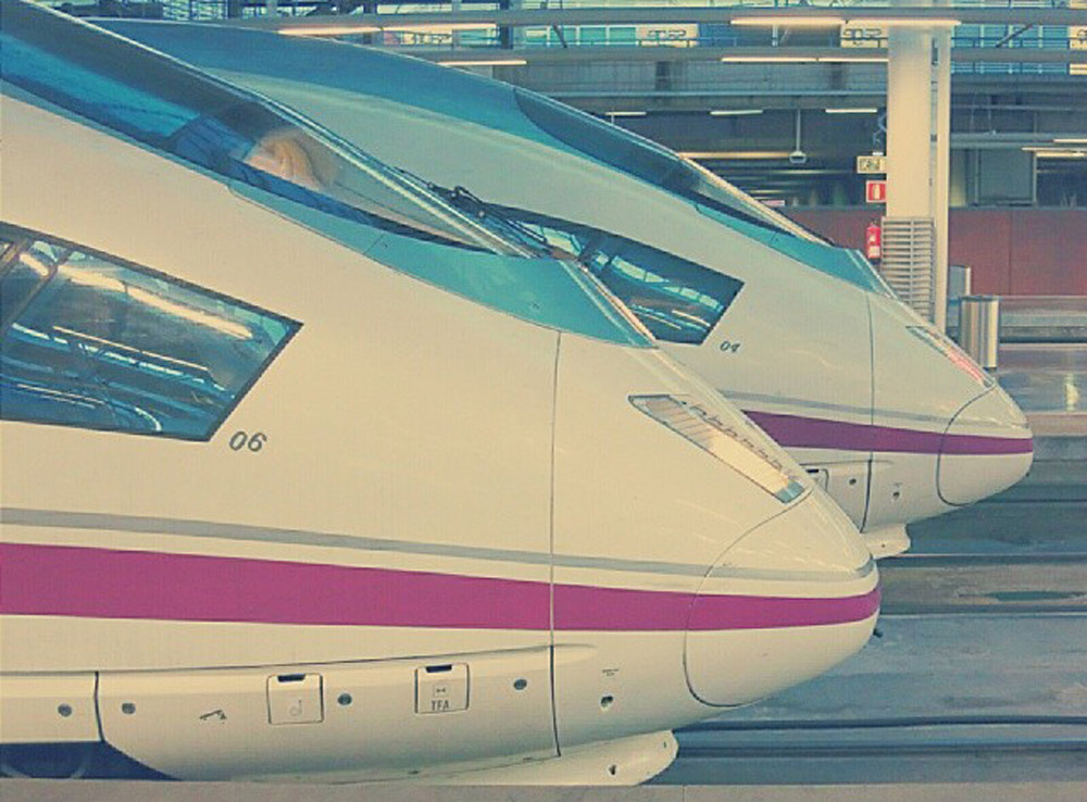 AVE. Atocha, Madrid.