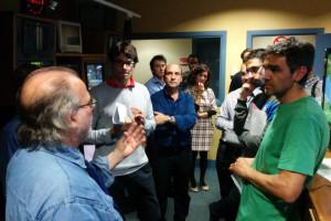 Andreu Manresa amb els tècnics
