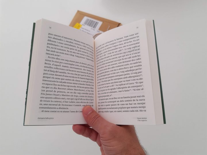 El llibre en mode lectura