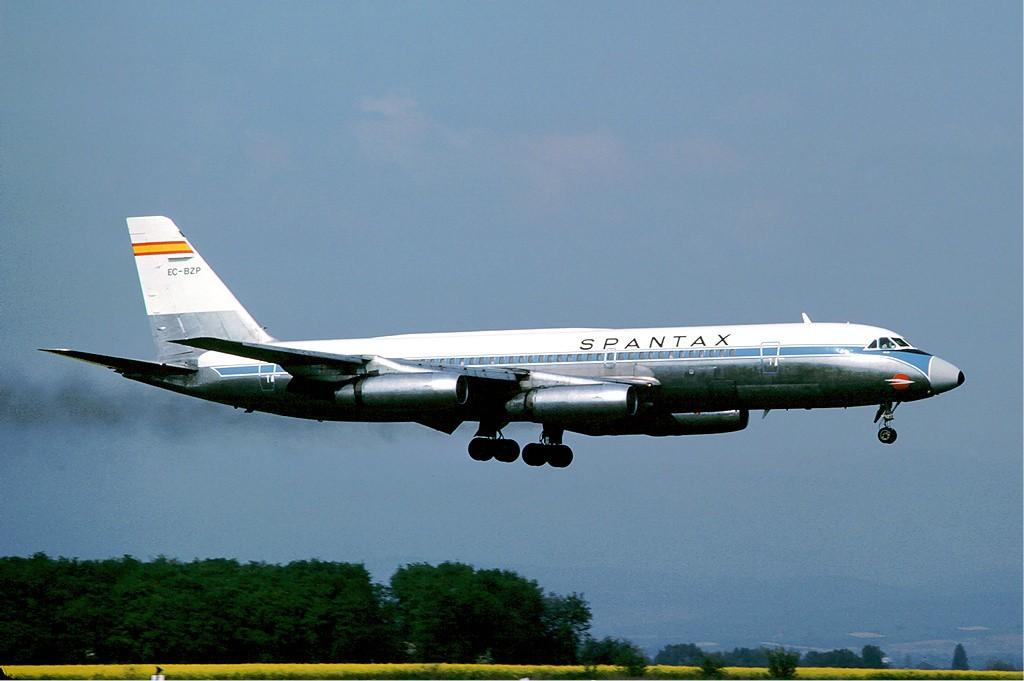 Spantax CV-990 at Basle - June 1976