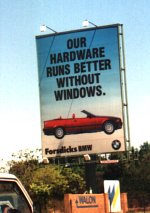 BMW: Our hardware runs better without windows.