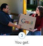lliurament d'una caixa de Gmail Paper