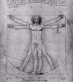 Home Vitruvià de Leonardo da Vinci