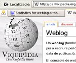 Entrada weblog a la Wikipedia en català